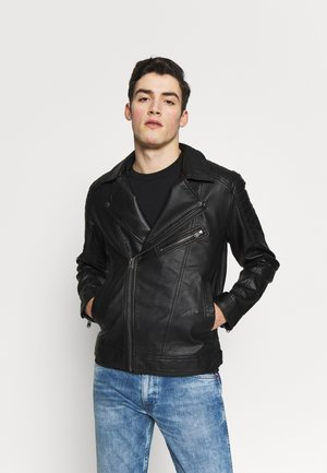 JCOROCKY BIKER JACKET - Faux leather jacket - black
