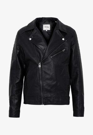 JCOROCKY BIKER JACKET - Faux leather jacket - black
