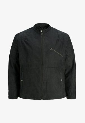 Faux leather jacket - caviar