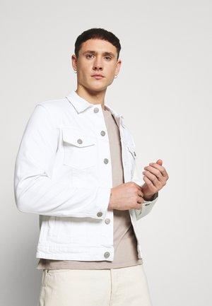 JJIALVIN JJJACKET - Denim jacket - white denim