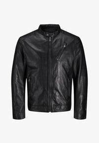 Jack & Jones - LEDERJACKE MINIMALISTISCHE - Leather jacket - black - 6