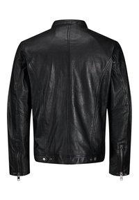Jack & Jones - LEDERJACKE MINIMALISTISCHE - Leather jacket - black - 7