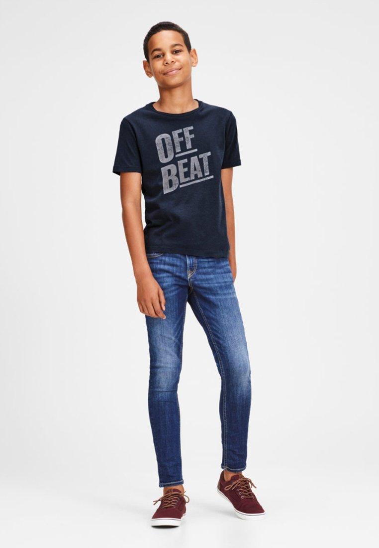 Jack & Jones Junior - JUNIOR - T-shirt print - navy blazer