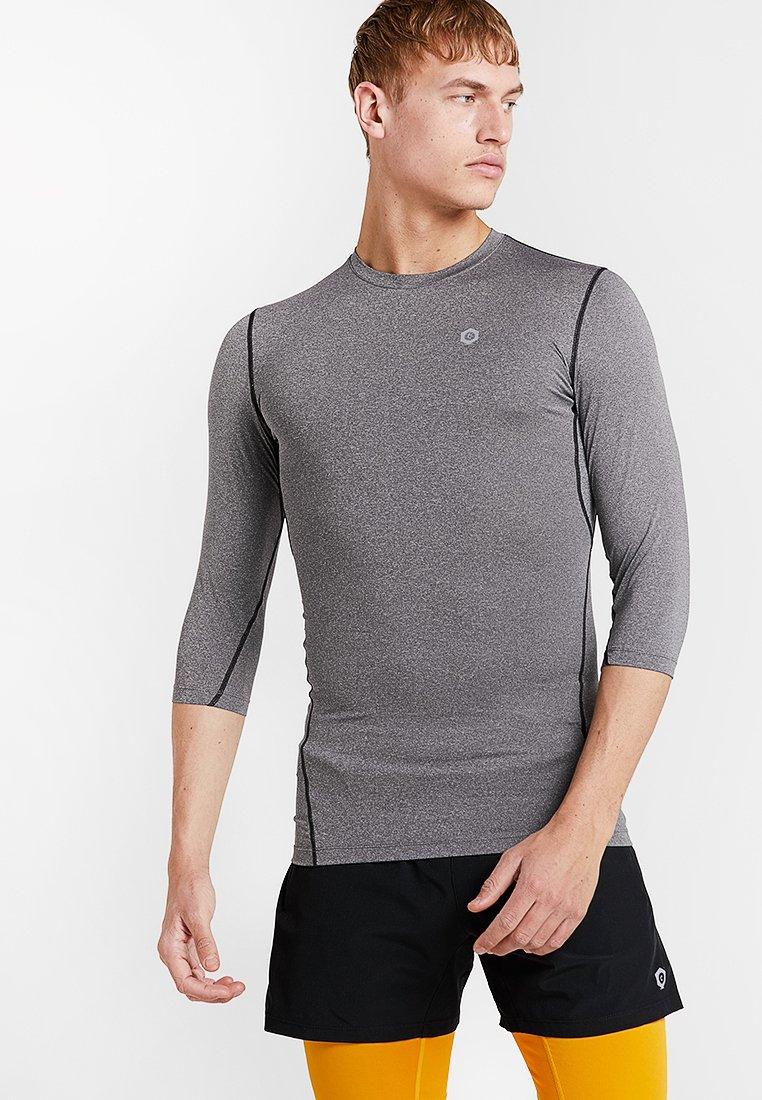 Jack & Jones - JCOMINE BASELAYER - Sports shirt - light grey melange