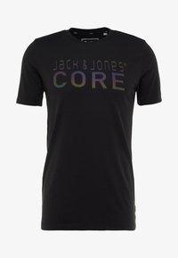 Jack & Jones - JCOFOAM REFLECT TEE CREW NECK SLIM FIT - T-shirt z nadrukiem - black - 5