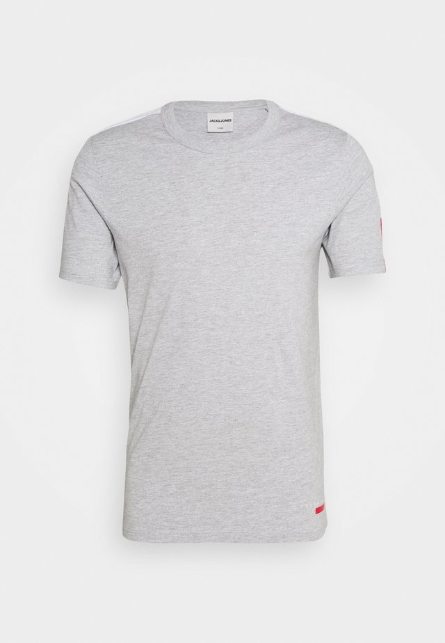 JCOJORDY TEE CREW NECK SLIM FIT - Printtipaita - light grey melange