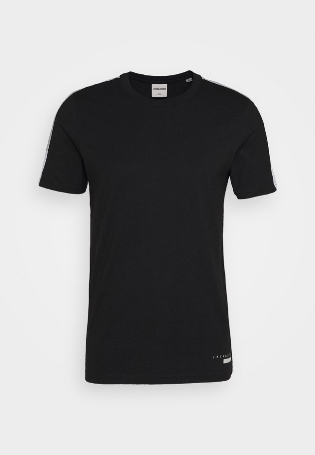 JCOJORDY TEE CREW NECK SLIM FIT - Printtipaita - black