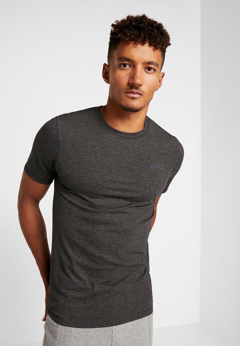 Jack & Jones - JCOSPARK TEE CREW NECK SLIM FIT - T-shirt imprimé - black
