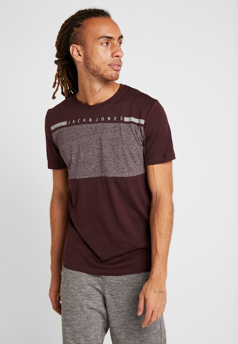 Jack & Jones - JCOJOEY TEE CREW NECK - T-Shirt print - fudge