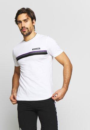JCOARTIC TEE CREW NECK - T-shirt imprimé - white