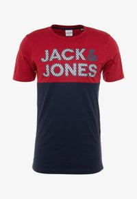 Jack & Jones - JCOMILLER TEE CREW NECK - Print T-shirt - rio red - 3