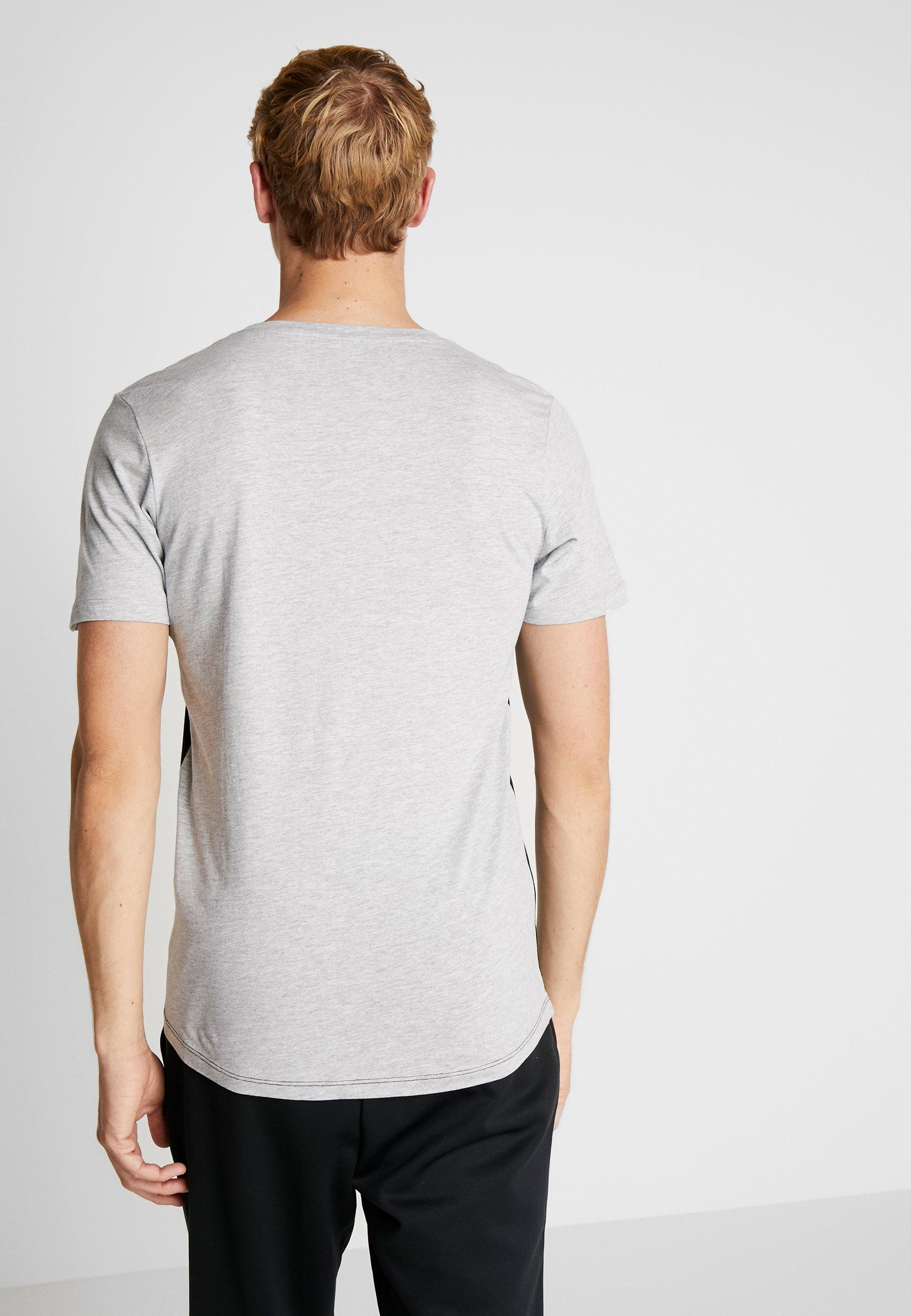 Jack & Jones JCOMILLER TEE CREW NECK - T-shirt z nadrukiem - black