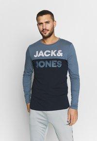 Jack & Jones - JCOMILLER TEE SLIM FIT - Long sleeved top - sky captain - 0