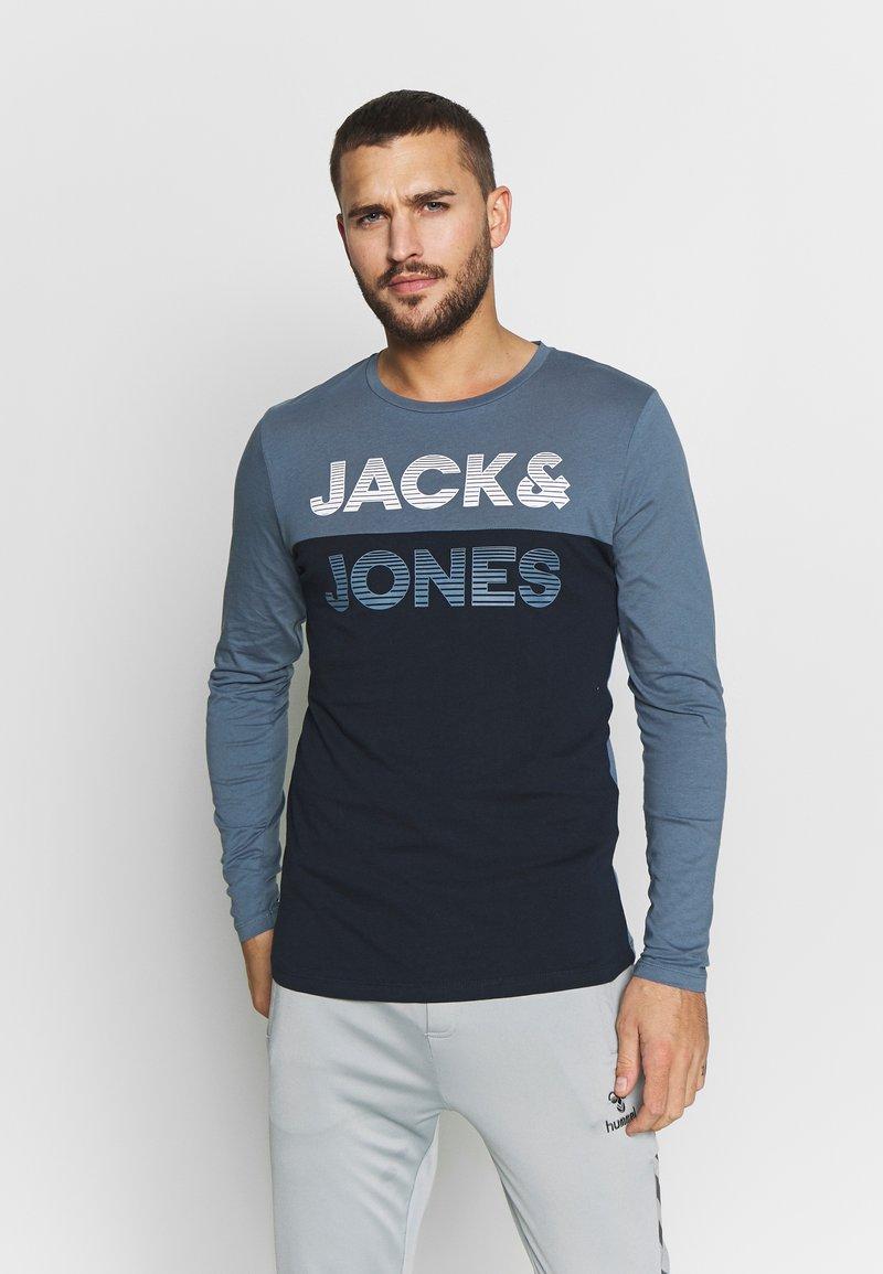 Jack & Jones - JCOMILLER TEE SLIM FIT - Long sleeved top - sky captain
