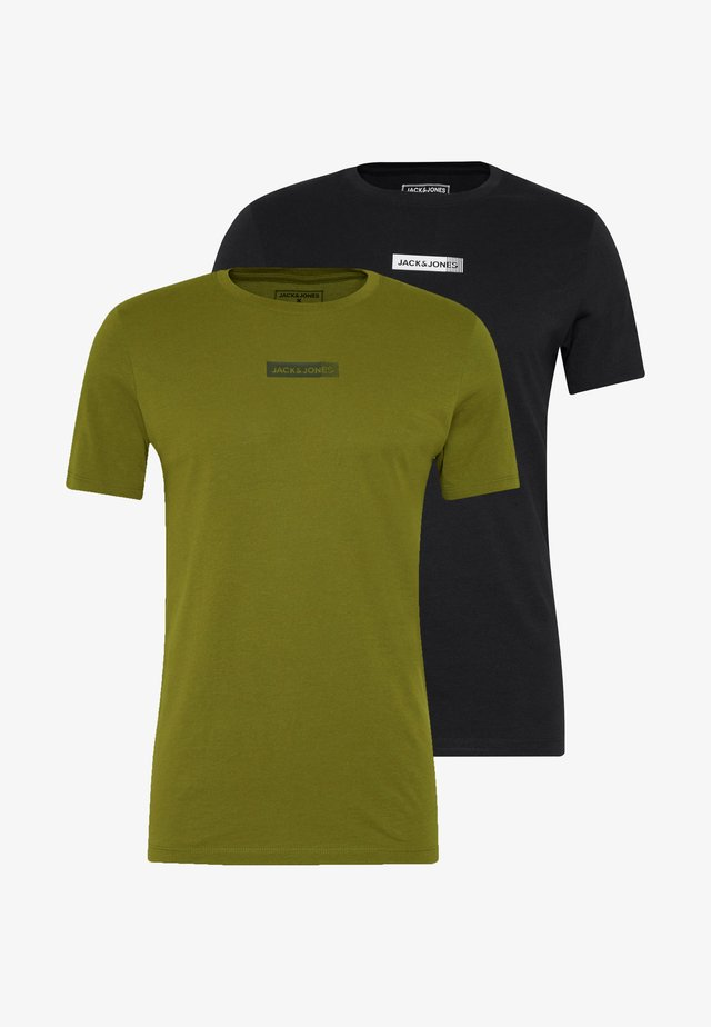 JCOZSS TEE SLIM FIT 2 PACK - T-shirts basic - black/winter mos