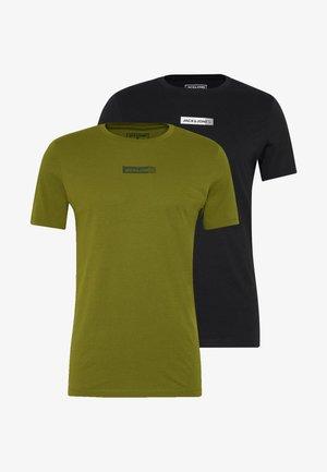 JCOZSS TEE SLIM FIT 2 PACK - Treningsskjorter - black/winter mos