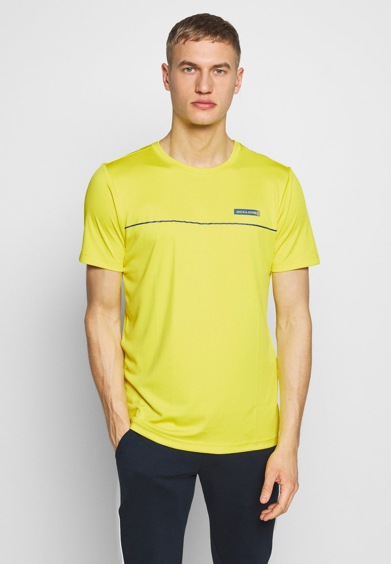 Jack & Jones Performance - JCOZSS PERFORMANCE TEE - Print T-shirt - sulphur spring