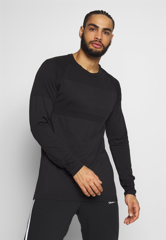 JCOZLS SEAMLESS TEE - Long sleeved top - black