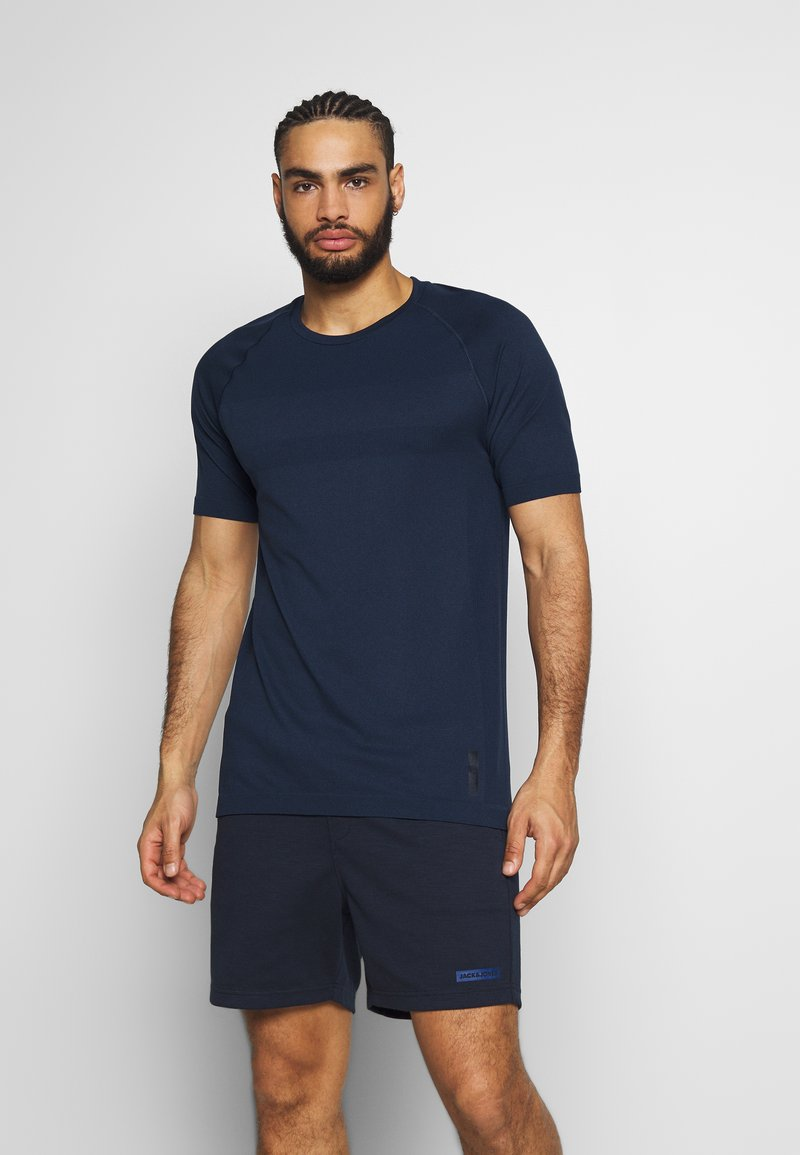 Jack & Jones Performance - JCOZSS SEAMLESS TEE - Jednoduché triko - sky captain