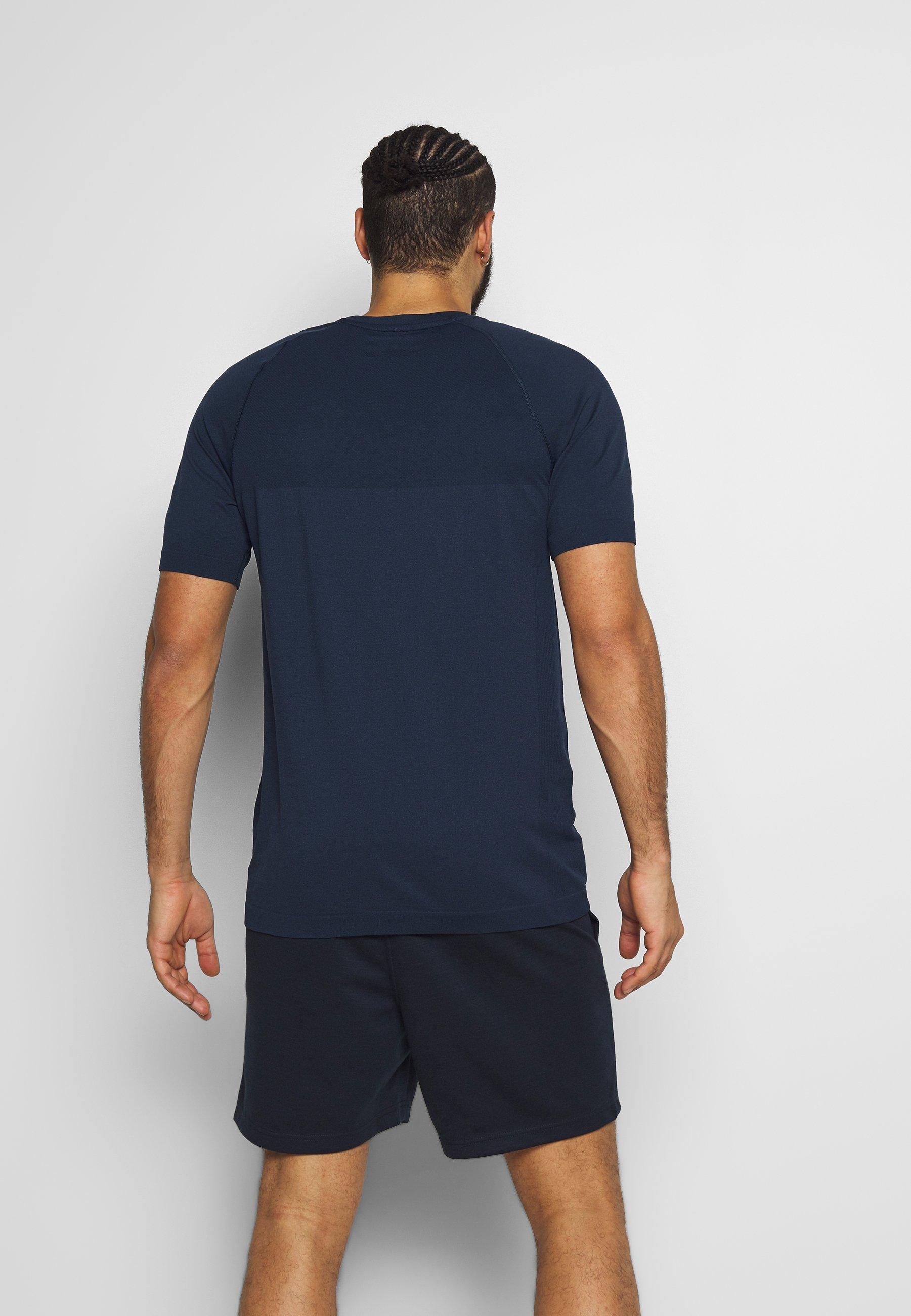 Jack & Jones Performance JCOZSS SEAMLESS TEE - T-shirt basic - sky captain