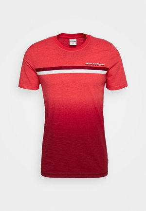JCOFADE TEE CREW NECK - Print T-shirt - bittersweet