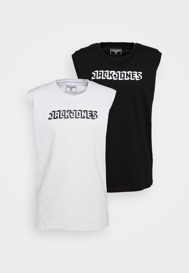 JCOPHANTOM SLEEVELESS  2 PACK - T-shirt med print - white/black
