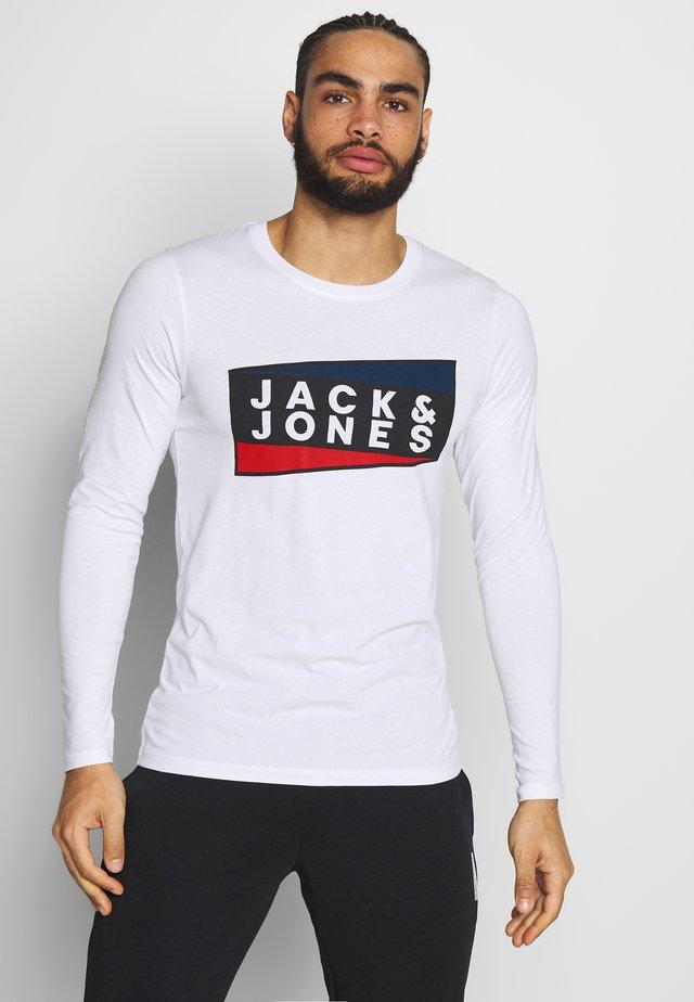 JCOSHAUN TEE CREW NECK - Long sleeved top - white