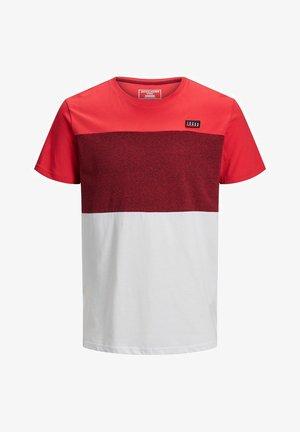 JCOCHASE TEE CREW NECK - Camiseta estampada - bittersweet