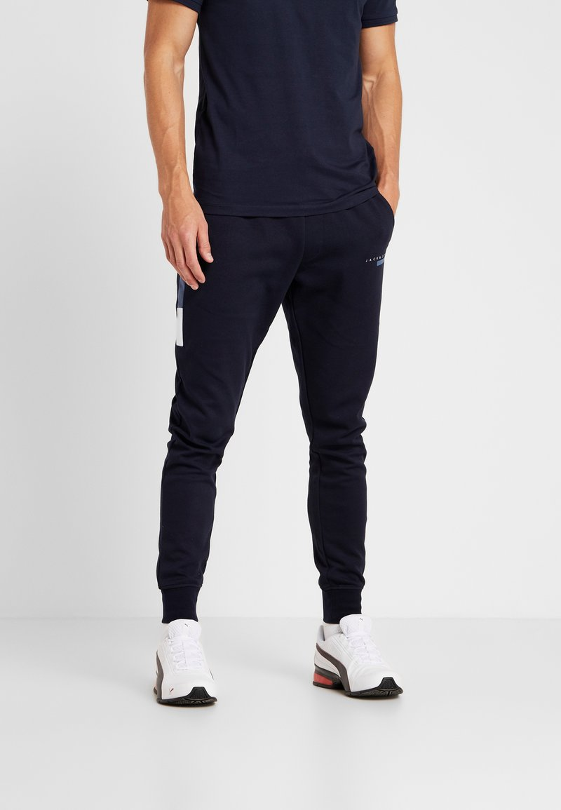 Jack & Jones - JJIWILL JOEY  PANTS  - Tracksuit bottoms - sky captain