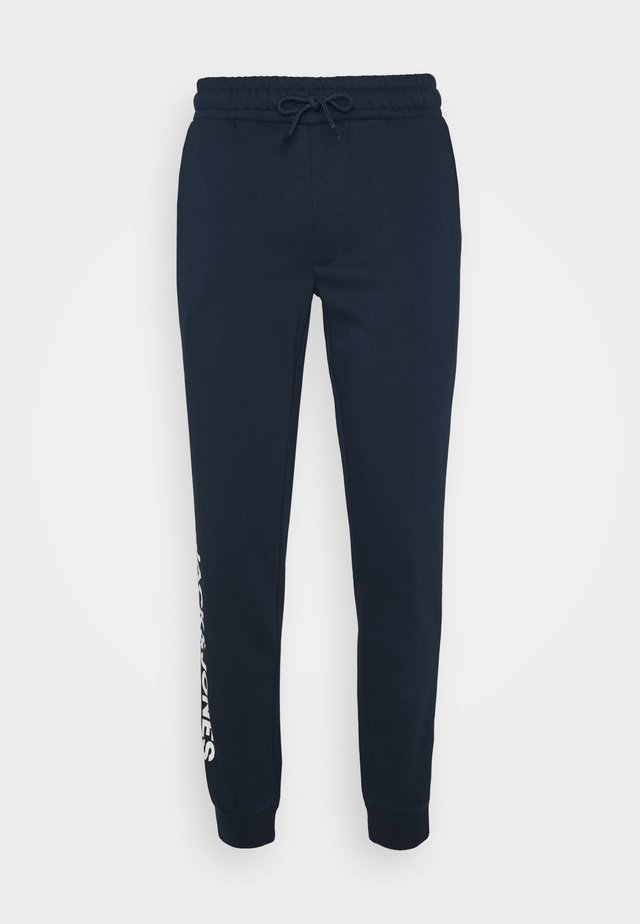 JJIGORDON SIDE SOFT PANTS - Träningsbyxor - navy blazer