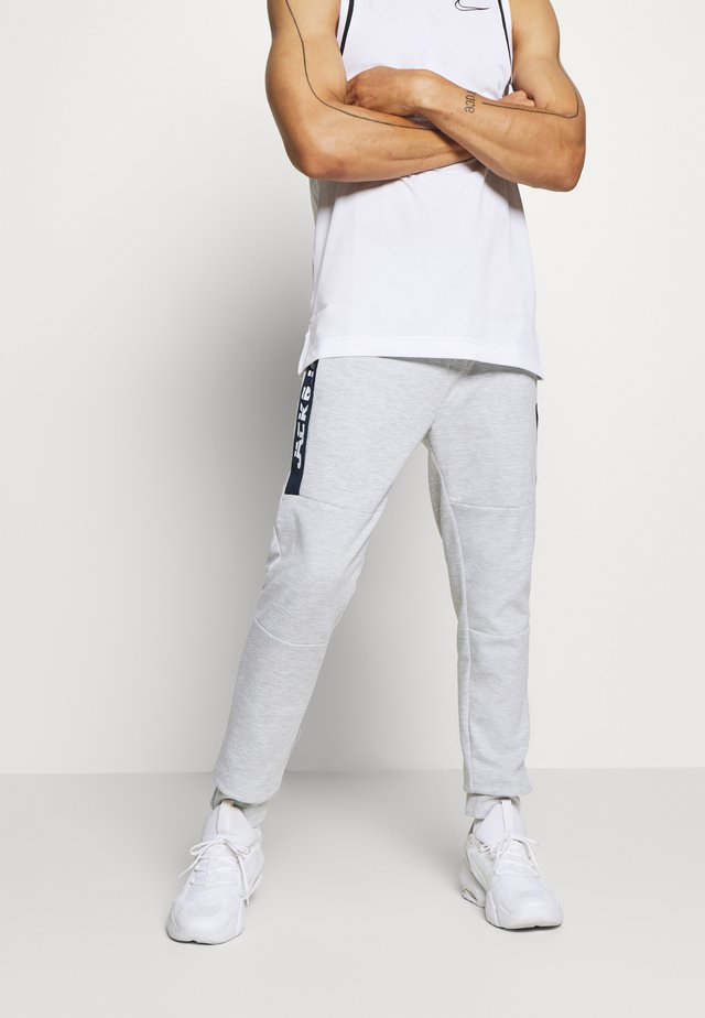 JJIWILL JJSEEN PANT - Tracksuit bottoms - light grey melange