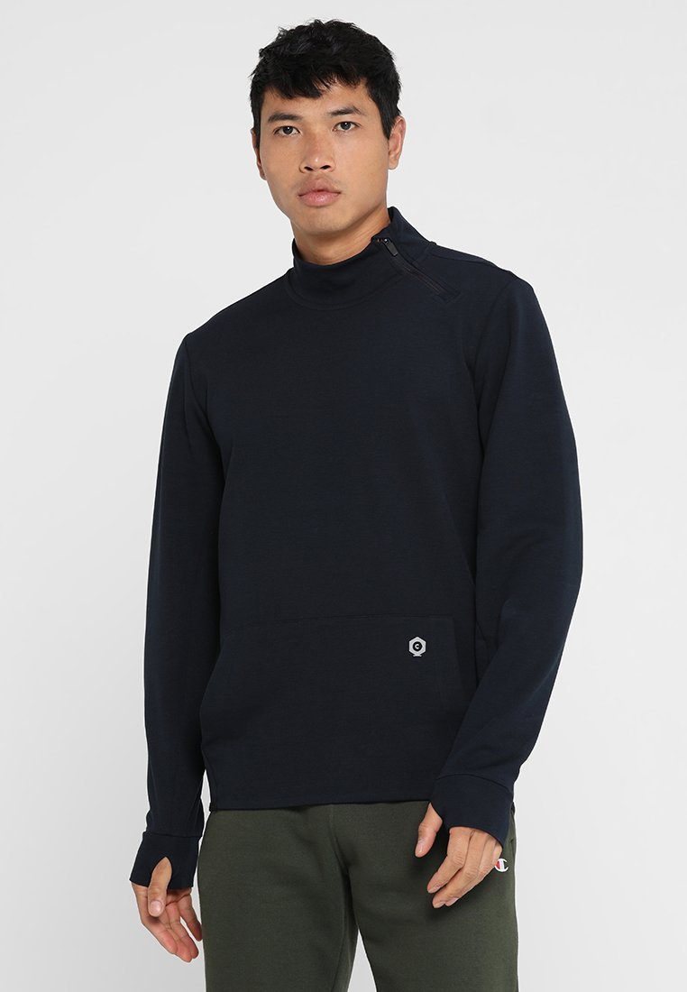 Jack & Jones - JCO1/2 ZIP HIGH NECK - Sweatshirt - sky captain