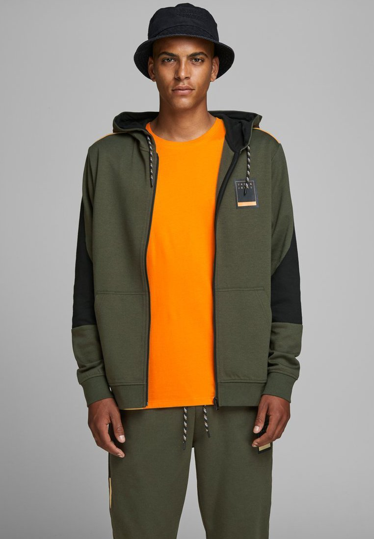 Jack & Jones - JCOJOEY - veste en sweat zippée - forest night