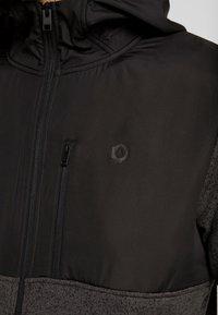 Jack & Jones - JCOFRANKLINS HOOD - Fleecová bunda - dark grey melange - 5
