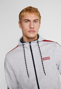 Jack & Jones - JCOISLAND ZIP HOOD - Hoodie met rits - light grey melange - 3
