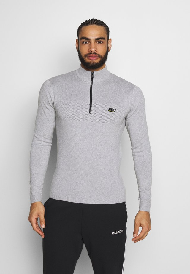 JCOMOOD POLO - Strikpullover /Striktrøjer - light grey melange