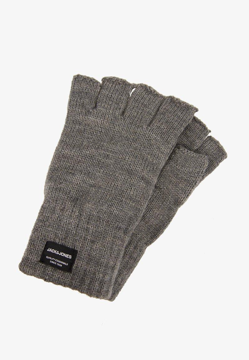 Jack & Jones - JACHENRY FINGERLESS GLOVES - Fingerless gloves - grey melange