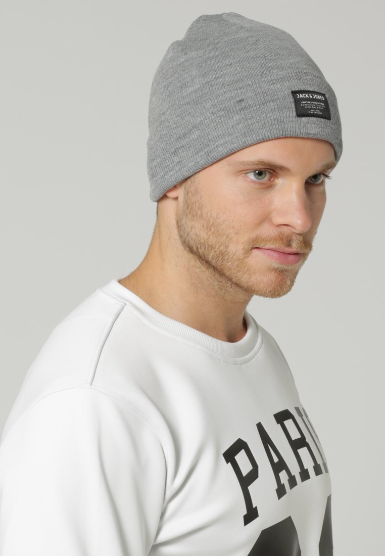 Jack & Jones - JJDNA BEANIE - Čepice - grey