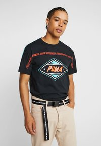 Jack & Jones - JACTEXT LOGO BELT - Pásek - black - 1