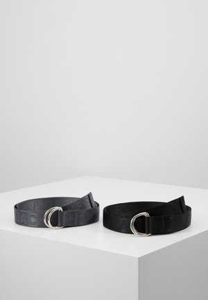 JACLEON RING BELT 2 PACK - Cintura - black
