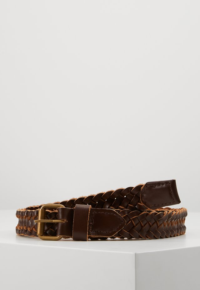 JACNATE BRAIDED BELT - Flettet belte - brown stone
