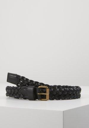 JACNATE BRAIDED BELT - Braided belt - black