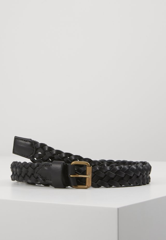 JACNATE BRAIDED BELT - Flettet belte - black