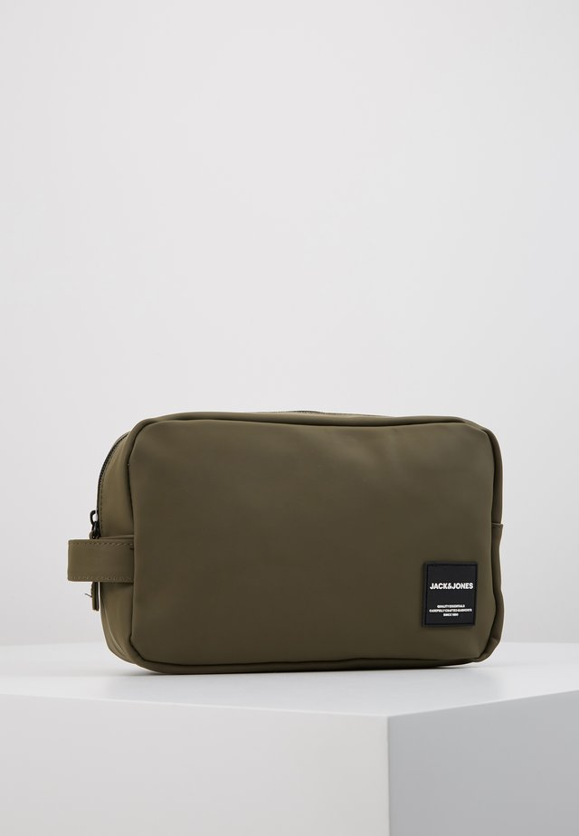 JACPETE TOILETRY BAG - Toiletti-/meikkilaukku - olive night