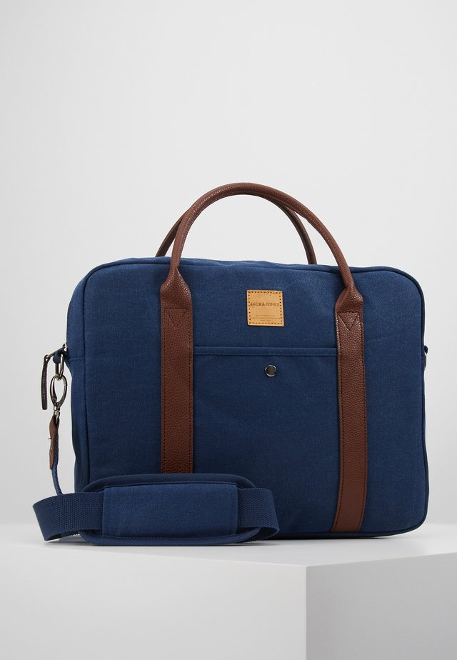 JACCANVAS BRIEFCASE - Stresskoffert - dark denim