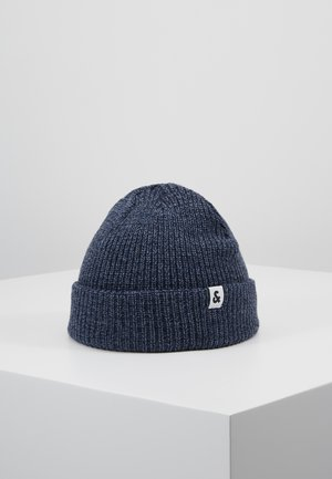 JACTWISTED SHORT BEANIE - Gorro - navy blazer/china blue