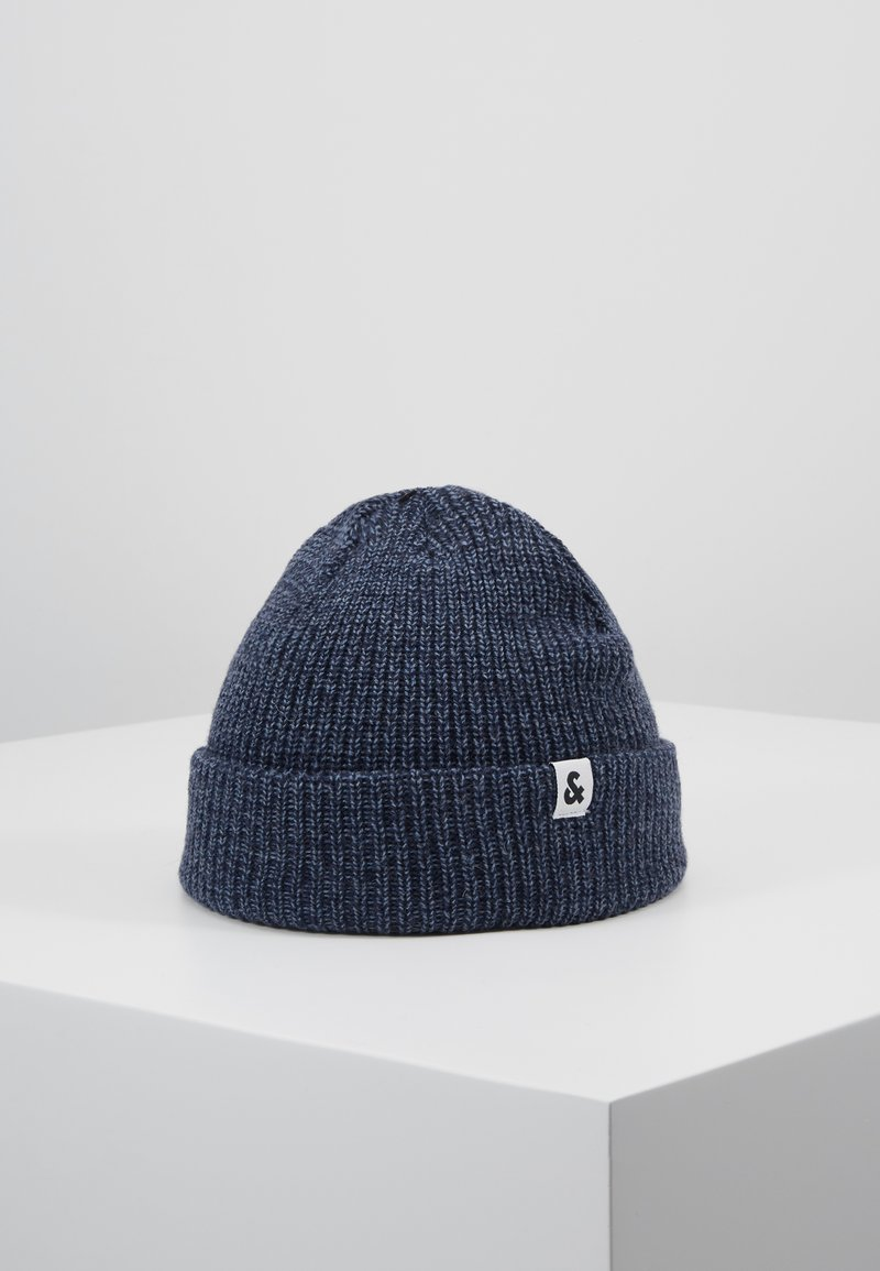 Jack & Jones - JACTWISTED SHORT BEANIE - Beanie - navy blazer/china blue