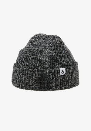 JACTWISTED SHORT BEANIE - Beanie - black/grey melange