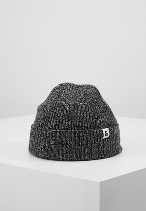 JACTWISTED SHORT BEANIE - Čepice - black/grey melange