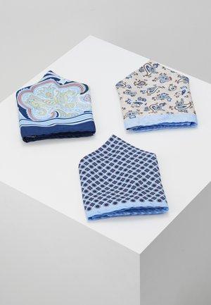 JACJONAS HANKIE BOX 3 PACK - Kapesník do obleku - cashmere blue